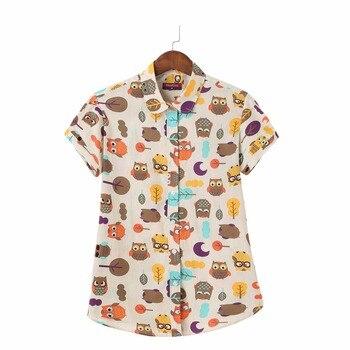 S-5XL Nuevo 2018 de Polca de la camisa más blusas mujeres impresión tops señoras manga corta Camisetas blanco botón femenino blusas