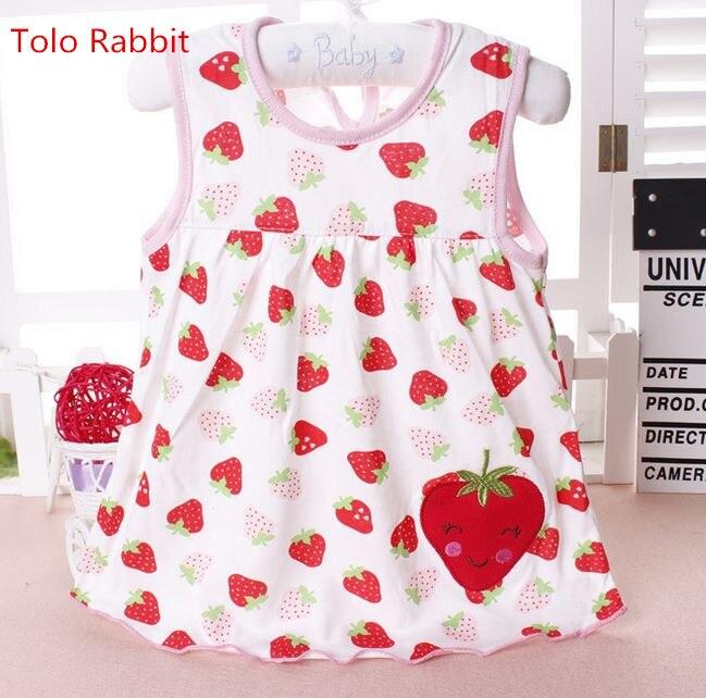 Virág nyomtatott kisgyermekek lányok hercegnő ruhák baba lányok egy-line szép ujjatlan nyári ruha gyerekek lányok puha pamut ruhák