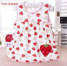 ФОТО 2017 cute vestido infantil baby girl dress cotton regular sleeveless a-line dresses casual clothing minin princess 0-24 months