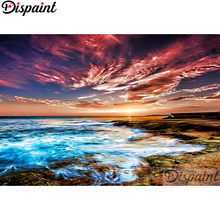 Dispaint Full Square/Round Drill 5D DIY Diamond Painting sea Sky seascape 3D Embroidery Cross Stitch Home Decor Gift A12557