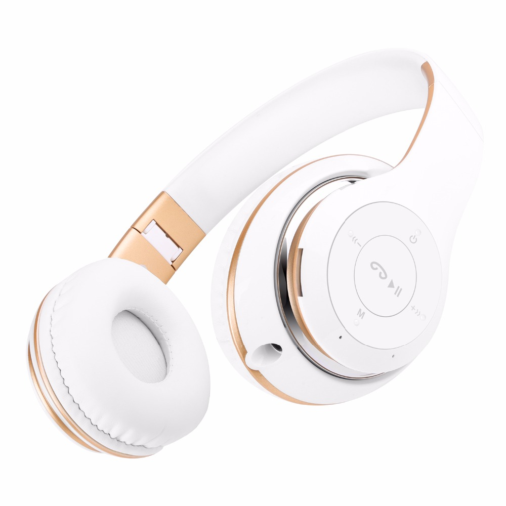 Bluetooth Headphone With Mic Support TF Card FM Radio Stereo Over-Ear wireless headset for laptop phone for iphone for xiaomi