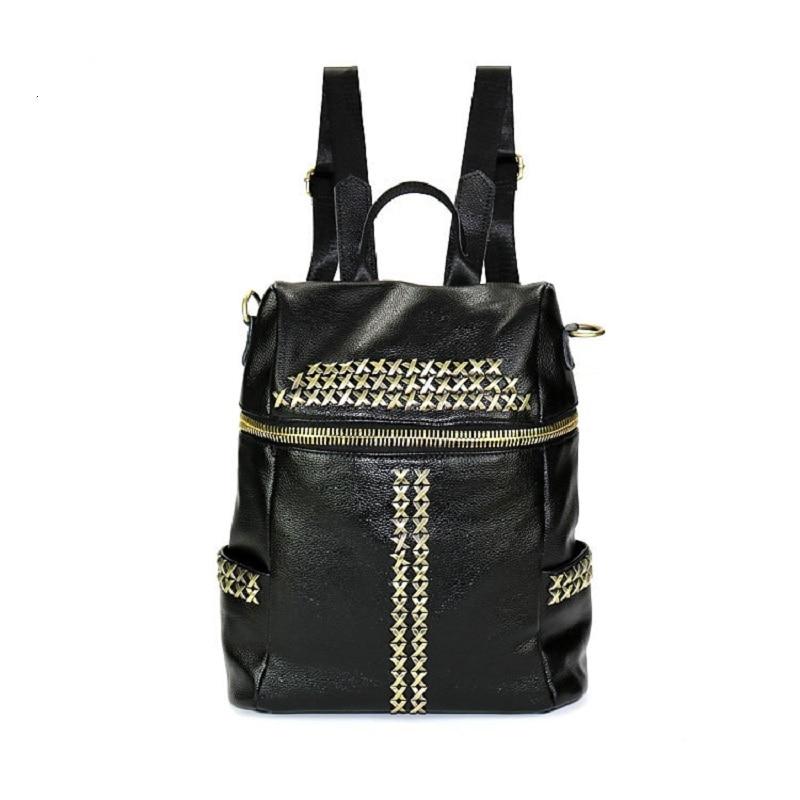 ФОТО Fashion Preppy Style Rivet Sequins Backpacks DayPacks school Bags PU Leather Men Women Shoulder Crossbody Bag bolsa feminina