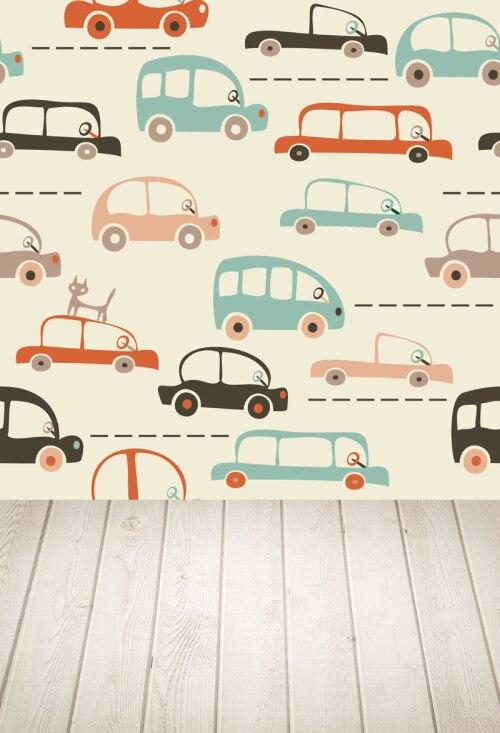 HUAYI cartoon map of cars and traffic Photography Newborn Backdrop XT4343 ...