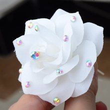 6Pcs/lot Bridal Hair Pins White Pearl Flower Red Rose Hair Clip Women U Hair Sticks Wedding Accessory Beach Hair Jewelry