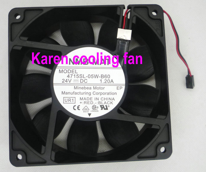 NMB 12cm 4715SL-05W-B60 12038 24V 1.2A  Cooling fan new original nmb 4715sl 05w b60 dc24v 1 2a 12038 inverter waterproof cooling fan