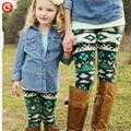 La Familia de la navidad Trajes A Juego Pantalones de Madre E Hija 2016 Family Look Leggings Mommy and Me Moda