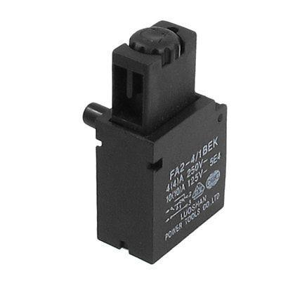 250VAC 4A 125VAC 10A Lock On Electric Drill Trigger Switch for Hitachi 10VA spno 5e4 lock on electric drill power tool trigger switch