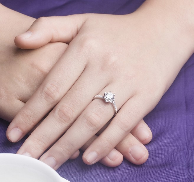 Aliexpress Buy Sparking 0 5Ct Fine Diamond Engagement Ring