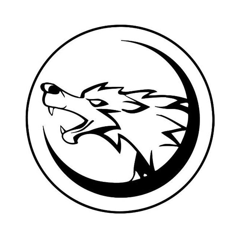 13cm*13cm Wolf Cartoon Fashion Car Styling Stickers Decals Vinyl Rear Window Sticker