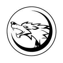 13cm*13cm Wolf Cartoon Fashion Car Styling Stickers Decals Vinyl Rear Window Car Sticker carcardo 40cm x 200cm car headlight taillight tint vinyl film sticker car smoke fog light viny stickers decals car styling