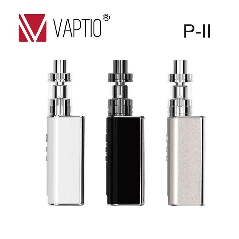 Vaptio mini electronic cigarette 75w vw/tc mod P-II top fill tank 1850mah power battery 510 thread e cigarette starter kit president lincoln ii asc mod
