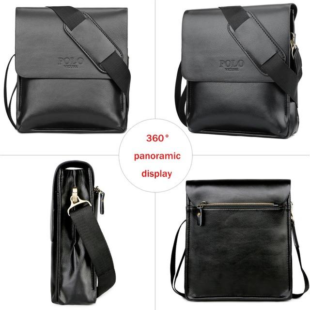 VICUNA POLO Famous Brand Leather Men Bag Casual Business Leather Mens Messenger Bag Vintage Men's Crossbody Bag bolsas male