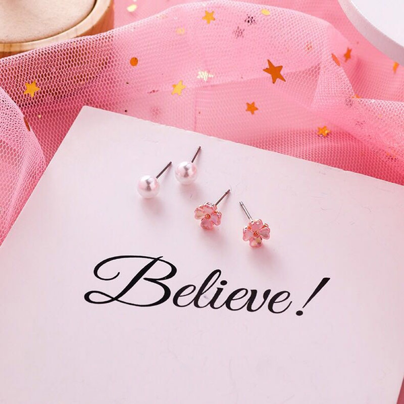 Earings Acrylic Sale Earing New Fashion Stud Earrings For Women Japan Korean Small 4pcs/set Sweety Pendientes Girl Jewelry 2019