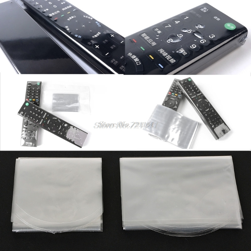 10PCS Heat Shrink Film For Apple Samsung LG TV Air-Conditioner Remote Control Cover Heat Shrink Film For TV Electronics Stocks