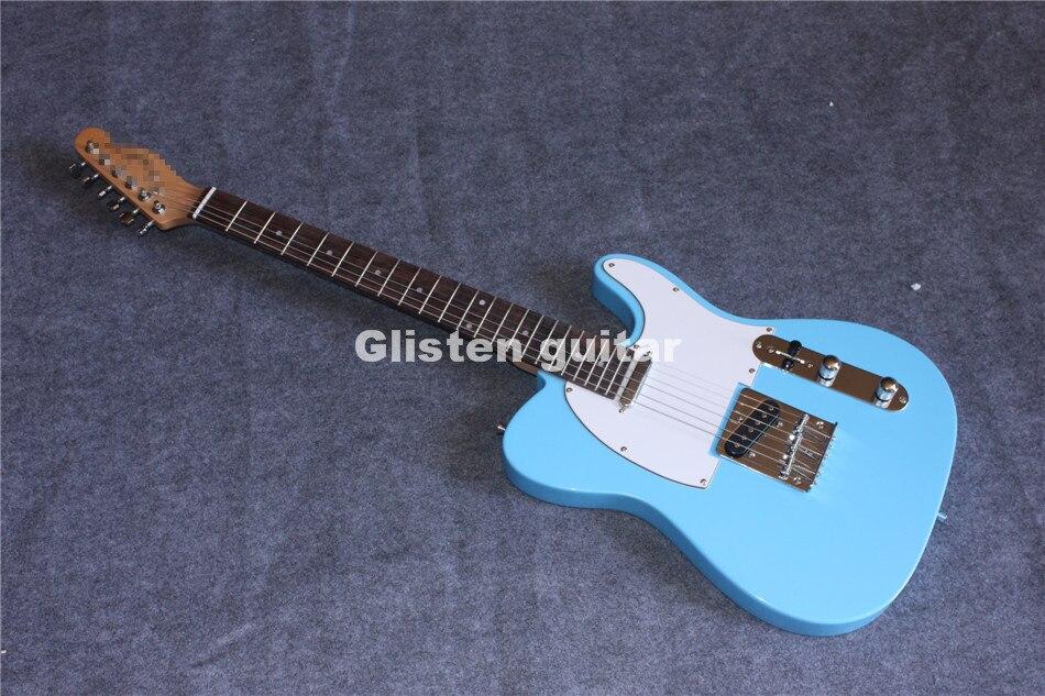 Nouveauté guitare électrique bleue, livraison gratuite