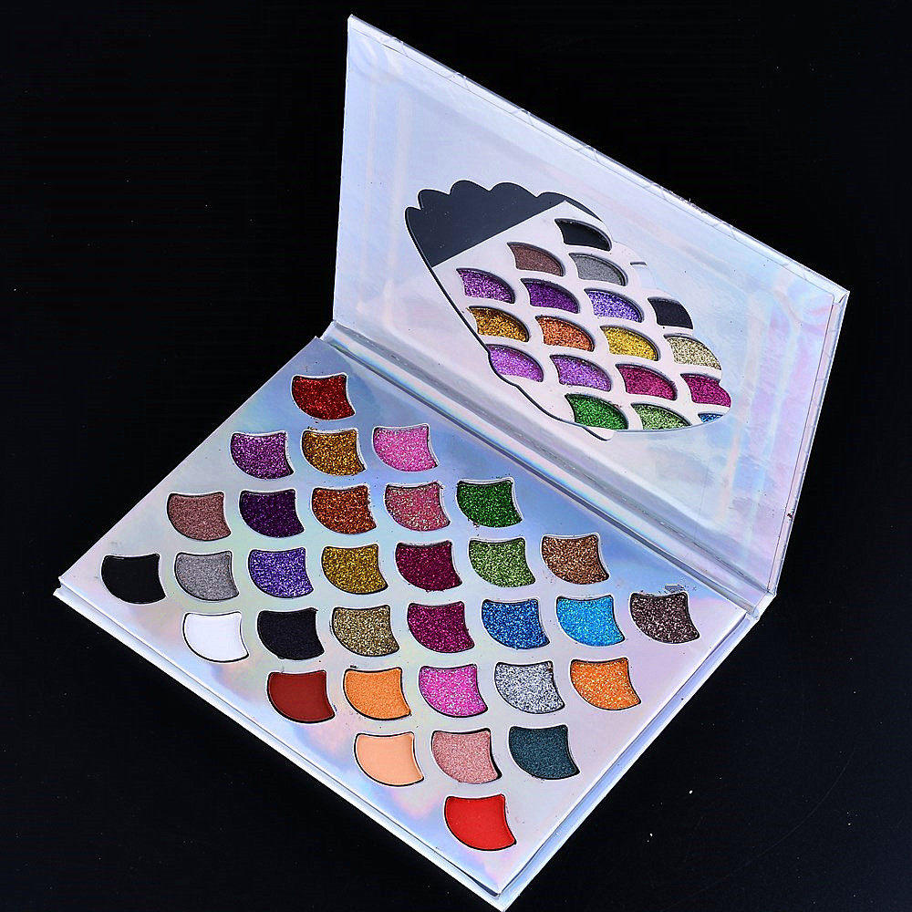 New 32 Colors Mermaid Scale Eye Shadow Pearl Matte Glitter Sequin Eyeshadow