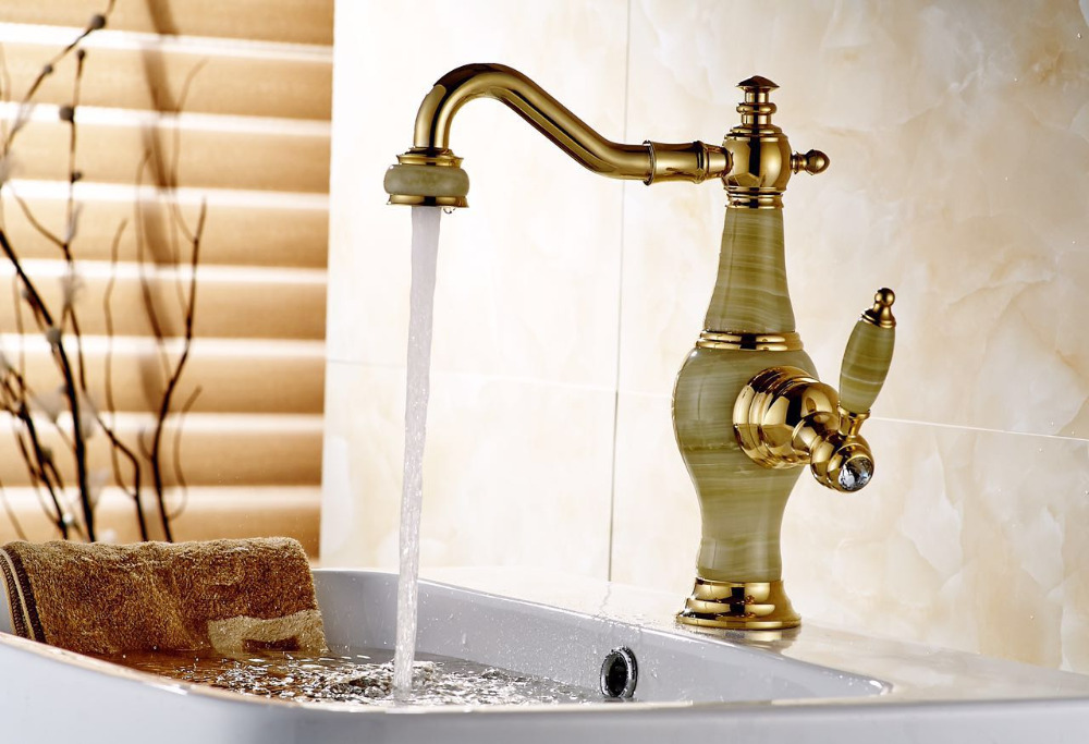ФОТО Bathroom marble faucet waterfall bathroom basin faucet marble sink tap waterfall faucet mixer tap Vintage water faucet