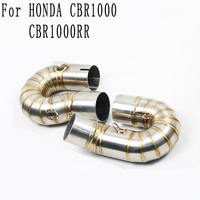 Motorcycle Modification exhaust pipe CBR1000RR middle pipe 08 14 stainless steel exhaust titanium cbr1000rr cbr1000 Link tube