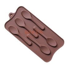 Silicone mold 5 lattices new styling DIY spoon chocolate molds ice cube molds SICM-115-9