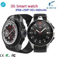 3g Смарт часы телефон с водонепроницаемым корпусом IP68 Android 7,0 2 ГБ + 16 ГБ Поддержка sim карты gps Wi Fi наручные 460 мАч Smartwatch для мужчин Для женщин