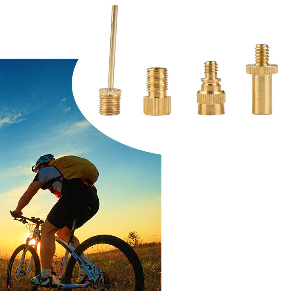 4Pcs Presta to Schrader Valve Adapter Converter Bike Cycle Bicycle  Pump Tube