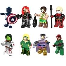 Single Super Hero Marvel Vance Astro Black Widow Heracles Adam Warlock Gamora Amora Wrecker building blocks toy for children