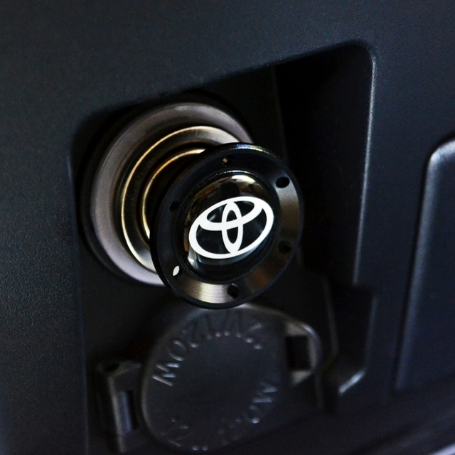 Nrz Black Aluminum Car Cigarette Lighter For Toyota Corolla Yaris Vios Mr2 Supra Lexus Is300