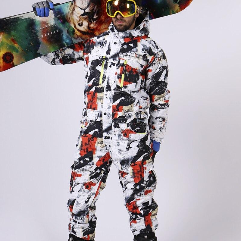 Saenshing лыжный костюм мужской зимний водонепроницаемый теплый сноуборд  куртка один кусок комбинезон Лыжный спорт сноуборд и c085777e1f0