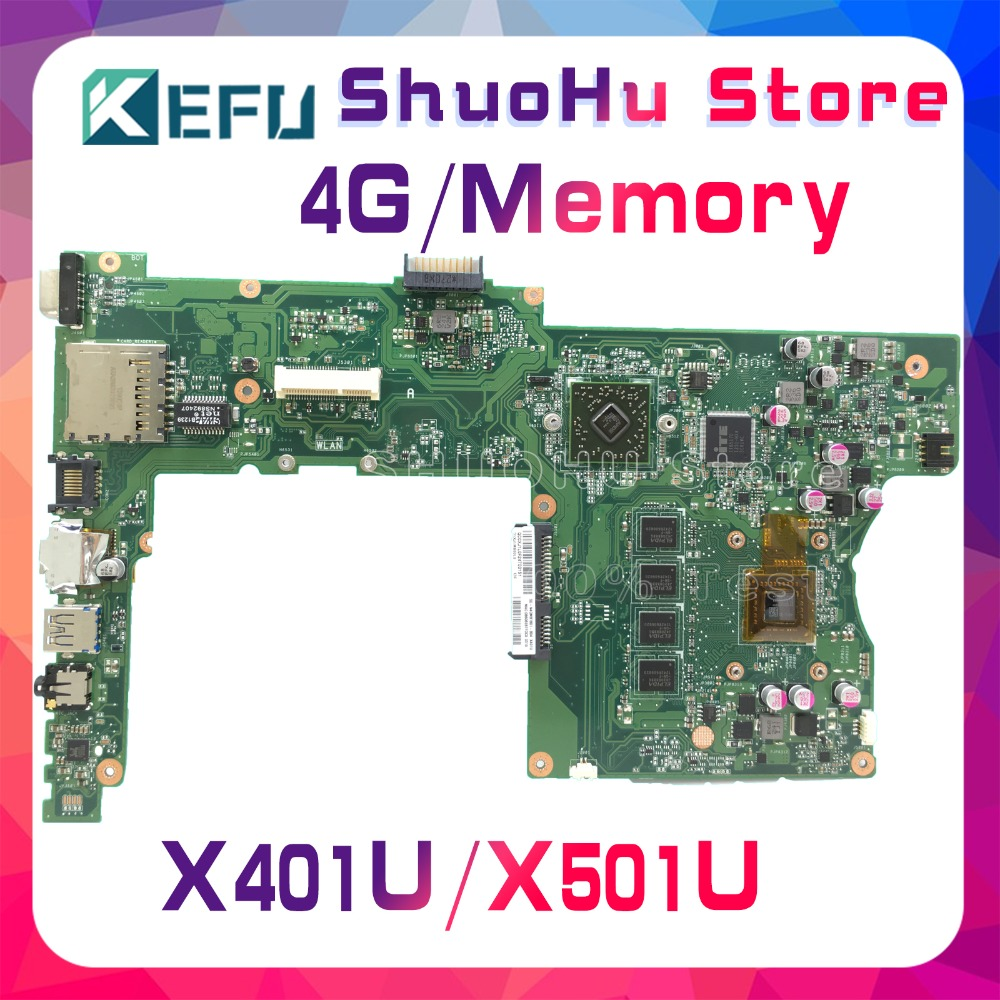 KEFU For ASUS X401U-M3 X401U X501U 4GMemory Laptop Motherboard Tested 100% Work Original Mainboard