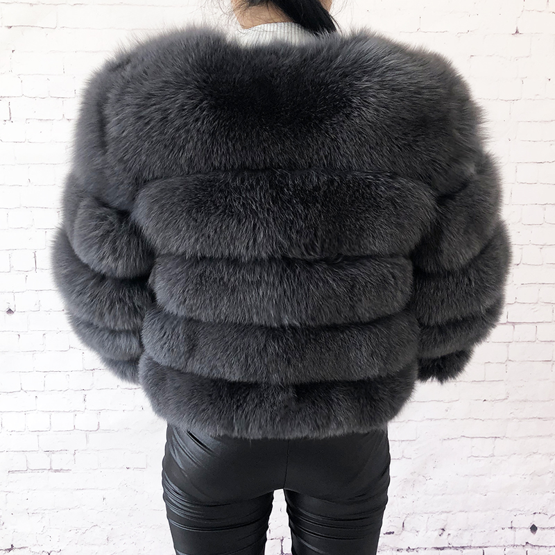 2019 new style real fur coat 100% natural fur jacket female winter warm leather fox fur coat high quality fur vest Free shipping 73