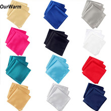 Ourwarm 100pcs Wedding Table Napkins 30cm Knitted Napkin Satin Handkerchief Cloth Dinner Decoration Party Event