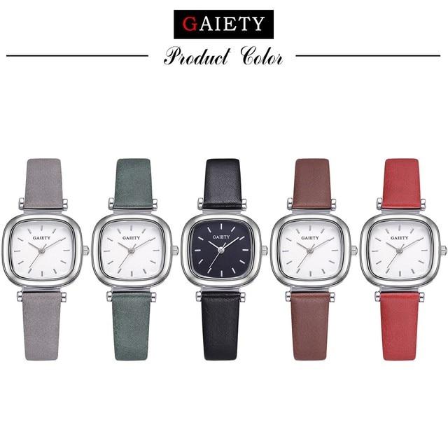 2018 Fashion Watch Women erkek saat Quartz Girl Roman Numerals Leather Band Wrist Bracelet Watches Hot sale Dropship Relogio