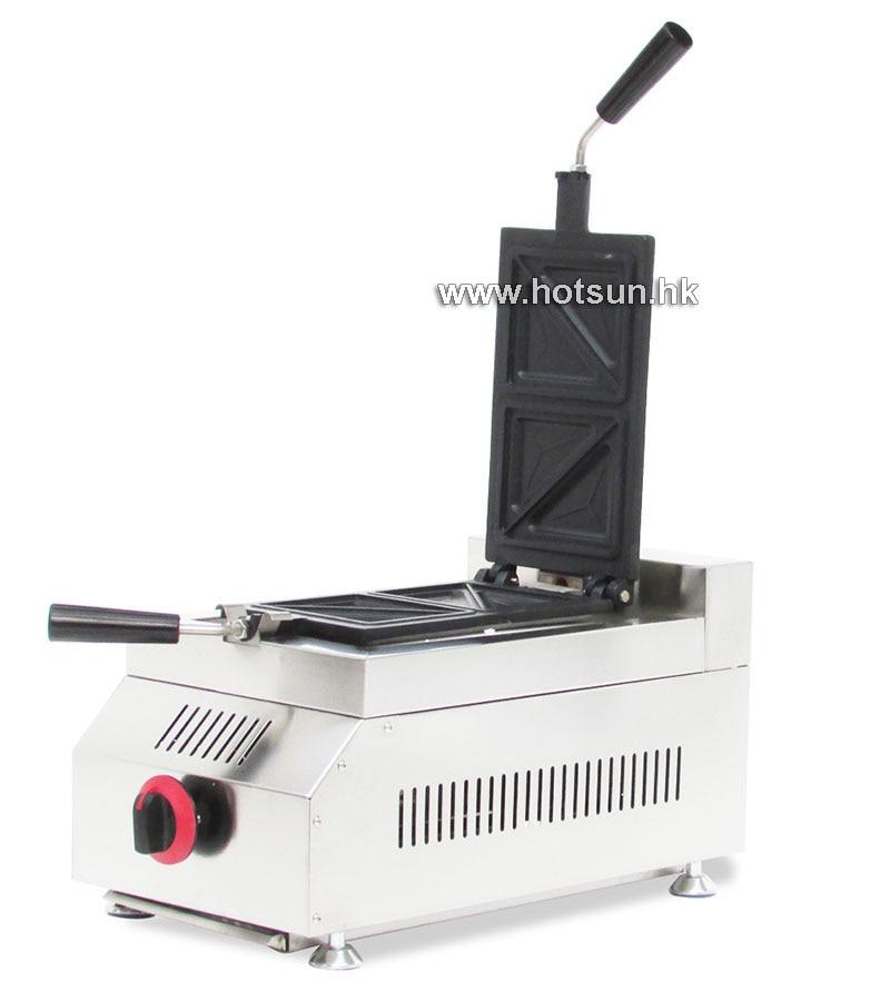 Commercial Non-stick 4 Slice LPG Gas Sandwich Press Maker Iron Machine lpg gas commercial non stick rotatable 3 slice belgian liege iron maker machine baker