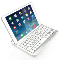 New White Aluminum Bluetooth Wireless Keyboard Case Cover Dock With Stand For Apple IPad Air IPad