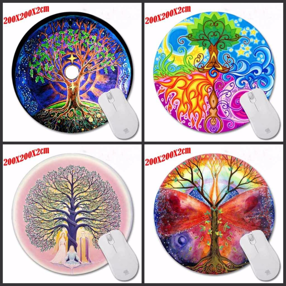 Mairuige Nice A Tree Of Life High Quality Design Painting Round Mouse Pad Series Computer Laptop Gaming Optical Mousemat