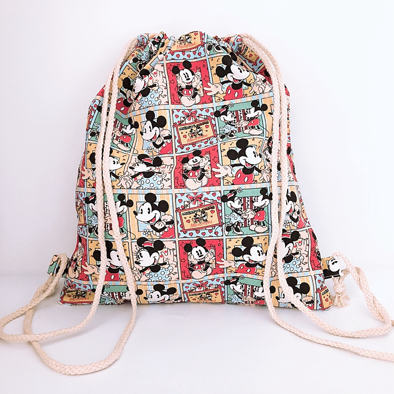 Canvas Backpacks String-Bags Comics Anime Knapsack Mickey Casual Fashion New Unisex COOL