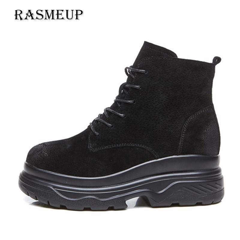 Luggage & Bags Rasmeup Genuine Leather Women Platform Ankle Boots Winter Womens Snow Boots Brand Thick Soled Plush Warm Woman Footwear Black Demand Exceeding Supply Functional Bags