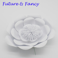 1 Piece Pure White 30CM Cardstock Customized Giant Paper Flower For Wedding Backdrops Windows Display Kids' Room Deco Handmade