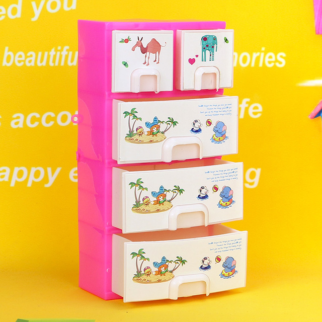 Child toy doll clothes accessories drawer storage cabinet doll ...