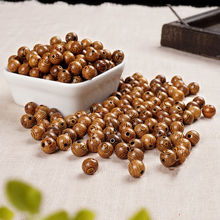 HOBBORN 50PCS 8mm Fashion Natural Wooden Beads Brown Round Spacer Stripe No Harm for DIY Kid Jewelry Makings