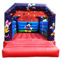 Children outdoor playground inflatable trampoline air jumping bouncer on sale