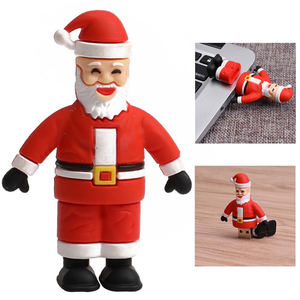 Cute Flash Drive 1/2/4/8/16/32gb Santa Claus Usb 2.0 Flash Drive Memory Stick Storage U-disk Skilful Manufacture