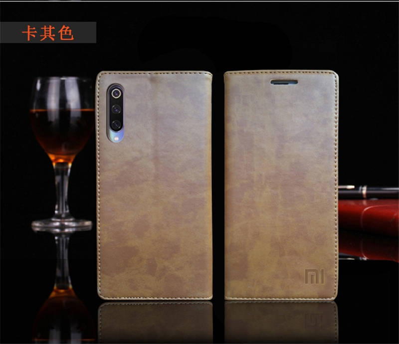 for Xiaomi Mi 9 Case Luxury Genuine Leather Flip Case for Xiaomi Mi 9 Magnetic Book Wallet Cover for Xaiomi mi9 Phone Coque Case17