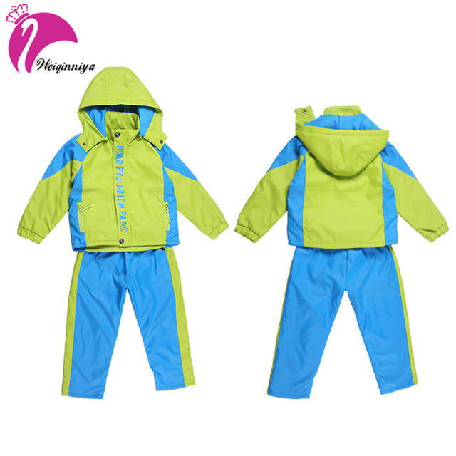 c3e4bac3a Tracksuit For Boys Casual Kid Sports Set Kids Windbreaker Jacket+Pants 2pcs  Sport Suit Kid Waterproof Uniform Kids Teens Clothes
