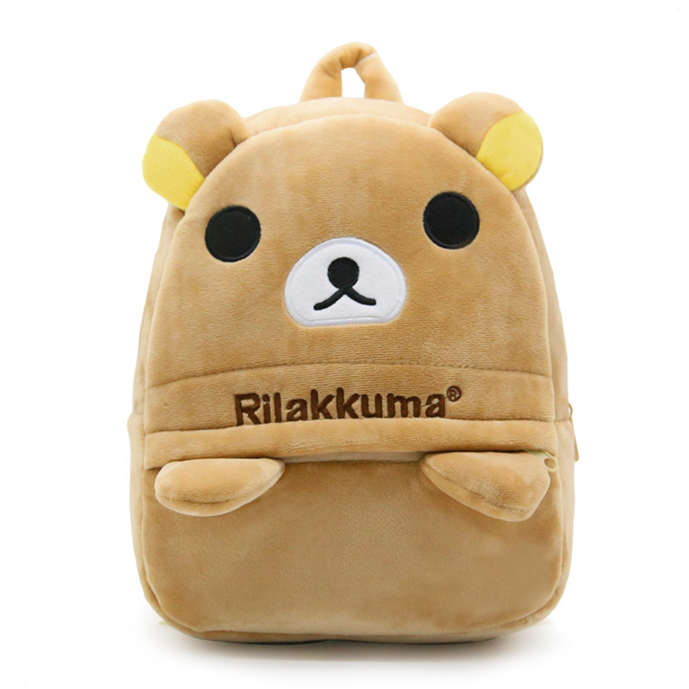 Zshop Brown Bear Backpack for Kintergarden Schoolbag Cartoon Kids Bookbag