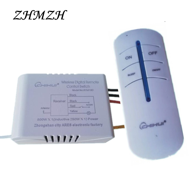 220V Wireless Digital Remote Control Switch 1 2 3 4 Ways Wall Intelligent Anti-interference Remote Transmitter For Ceiling Light