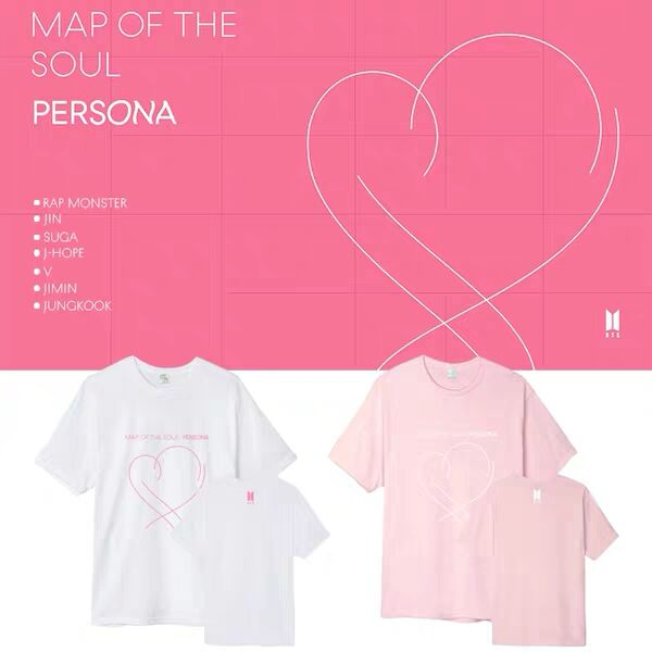 36c8259a34c8 2019 KPOP Mapa de el alma Persona camisetas de algodón de los hombres/de  las mujeres de verano de ...