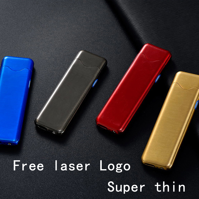 USB Lighter Electronic Tungsten Turbo Lighter Rechargeable WilndProof Cigarette Lighter For Smoking Laser Logo Metal