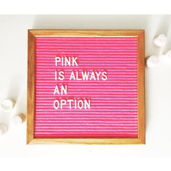 10x10 pink changeable letter board felt letter board for party wedding baby shower holiday home decoration white 510letters in decorative boards from home