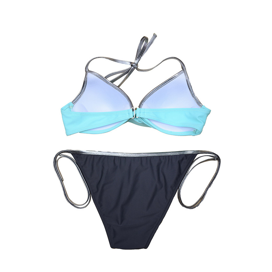 Push Up Bikini 2019 Bathing Suit Brazilian Swimsuit Sexy Bikini Solid Swimwear Girl Beachwear Women Swim Wear Female Biquini XXL